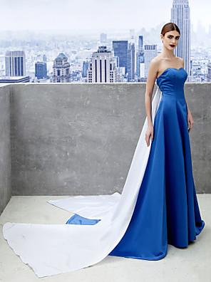 ts couture® noche formal del vestido de una línea de satén tren de la capilla amor con