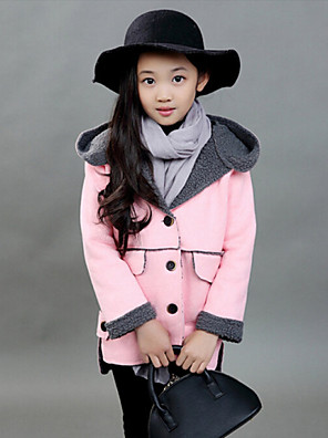 Girl's Casual/Daily Solid Down & Cotton Padded / Suit & BlazerPolyester Winter / Spring / Fall Pink / Purple / Red