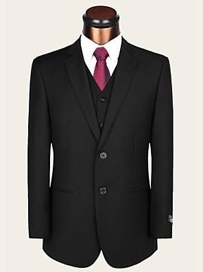 חליפות - גזרה רגילה ( שחור , צמר / ויסקוזה , שני חלקים )