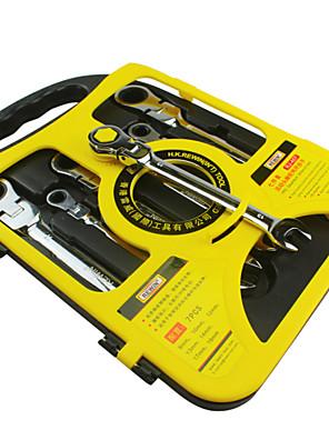 ferramenta rewin 7pcs chave catraca conjunto com cabeça ajustável