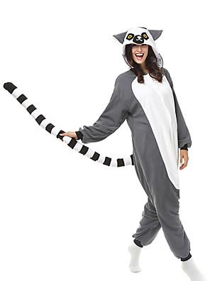 Kigurumi Pyjama  Aap Gympak/Onesie Festival/Feestdagen Animal Nachtkleding Halloween Grijs Patchwork Fleece Kigurumi Voor Unisex Halloween