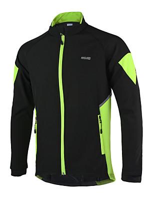 Arsuxeo® ג'קט לרכיבה לגברים שרוול ארוך אופניים שמור על חום הגוף / עמיד / עיצוב אנטומי / רוכסן עמיד למים / רצועות מחזירי אור / כיס אחורי