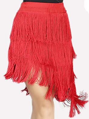 Latinské tance Spodní část oděvu Dámské Výkon elastan / Polyester Střapce Jeden díl Sukně Skirt length: 42-61cm