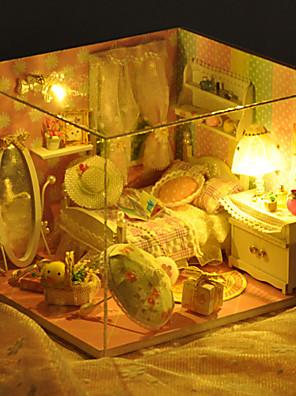 Vánoční dárek romantický hračky ruční modelu kutilství dřevo domeček pro panenky včetně všech nábytek Světla žárovku vedené