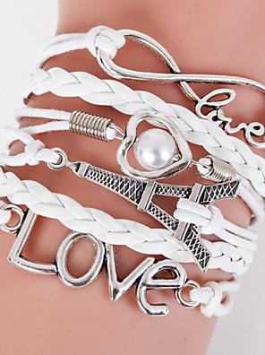 Armbanden Wikkelarmbanden / Strand Armbanden / Lederen armbanden Leder Liefde / Oneindigheid Dagelijks / Causaal / Sport Sieraden Geschenk