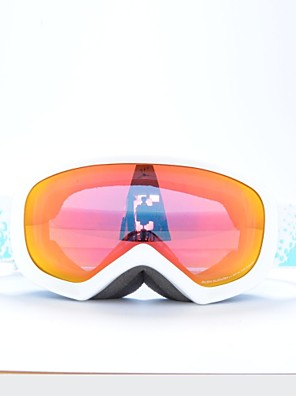 BASTO White Frame Red Sensor Skiing Snow Goggles for Kids