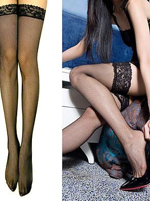 Malha Stretchy meias de senhora