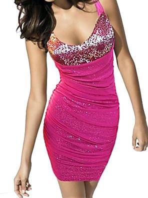 Dámské módní sexy V límec flitry hip balíček bodycon šaty