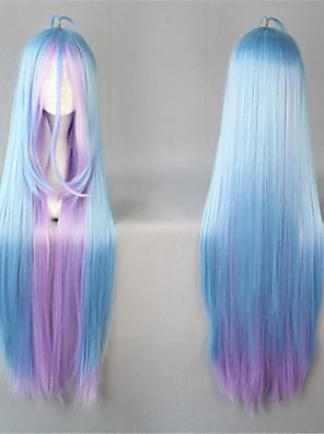 Lolita Wigs Sweet Lolita Zářící barvy Extra dlouhý Modrá Lolita Paruky 105 CM Cosplay Paruky Patchwork Paruka Pro Dámské