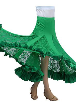 Standardní tance tutu a sukně Dámské Výkon Süt Filtresi Nařasený Jeden díl Sukně Skrit length: 90cm