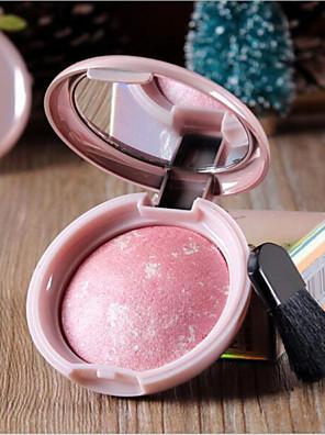 6 Blush Secos PóGloss com Purpurina Brilhante / Gloss Colorido / Humidade / Controlo de Óleo / Longa Duração / Corretivo / Peles com