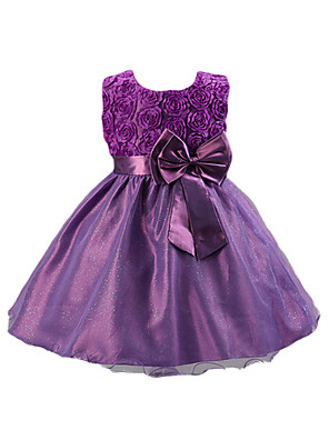 Girl's Summer/Spring/Fall Micro-elastic Medium Sleeveless Dresses (Acrylic/Cotton/Organza/Polyester/Satin)