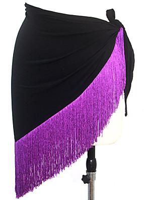 אביזרי ריקוד צעיפי מותן לריקודי בטן בגדי ריקוד נשים ביצועים מילק פייבר גדיל (ים) חלק 1 צעיף מותניים לריקודי בטןScarf length: 45cm Tassel