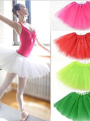 תחתונית  סליפ שמלת נשף אורך- קצר 3 רשתות בד טול לבן / שחור / אדום / כחול / סגול / ירוק / ורוד / צהוב