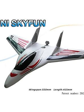 Skyartec rc vliegtuig mini skyfun kit (mnfj3x-03)
