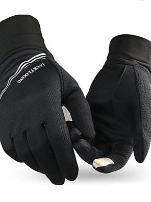 יוניסקס כפפות ספורט פנאי שמור על חום הגוף / לביש / נגד החלקה אביב / סתיו / חורף שחור-ספורטיבי-גודל חינם