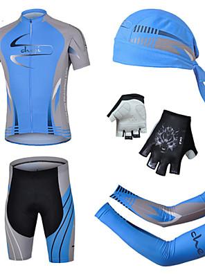 CHEJI® Camisa com Shorts para Ciclismo Homens Manga Curta MotoRespirável / Secagem Rápida / Resistente Raios Ultravioleta / Tapete 3D /