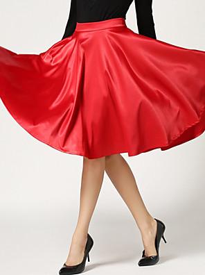 Jupes Aux femmes Mi-long Vacances Polyester Micro-élastique