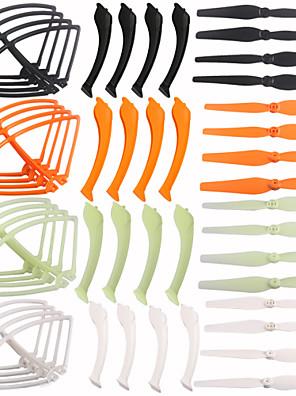 4color / 48 pièces de rechange SyMa X8c x8w de x8g set 16 atterrisseur + 16 pales de l'hélice + 16 bague de protection pour rc quadcopter