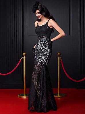ts couture® formell klänning passar& flare axelband golv längd spets med spets