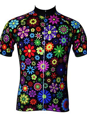 JESOCYCLING® חולצת ג'רסי לרכיבה לנשים שרוול קצר אופנייםנושם / ייבוש מהיר / עמיד אולטרה סגול / נגד חשמל סטטי / חומרים קלים / כיס אחורי /