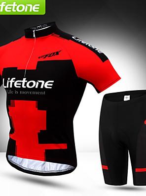 BATFOX® חולצת ג'רסי ומכנס קצר לרכיבה לגברים שרוול קצר אופנייםעמיד למים / נושם / ייבוש מהיר / עמיד / עמיד אולטרה סגול / הגנה בפני קרינה /