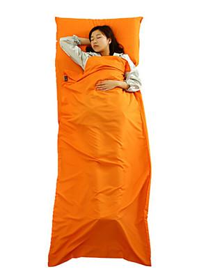 Saco de dormir Retangular Solteiro (L150 cm x C200 cm) 20-25° C Algodão 400g 210X75 Campismo / Pesca / Viajar / Exterior