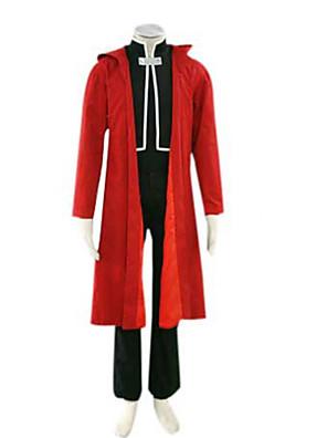 Inspirovaný Fullmetal Alchemist Edward Elric Anime Cosplay kostýmy Cosplay šaty Patchwork Czerwony Dlouhé rukávyPřehoz / Kabát / Vesta /