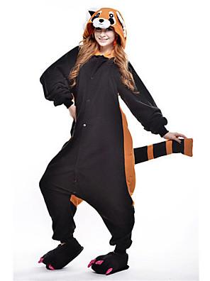 Kigurumi Pizsamák új Cosplay® / Medve / Mosómedve Akrobatatrikó/Egyrészes Fesztivál/ünnepek Allati Hálóruházat Mindszentek napja Fekete