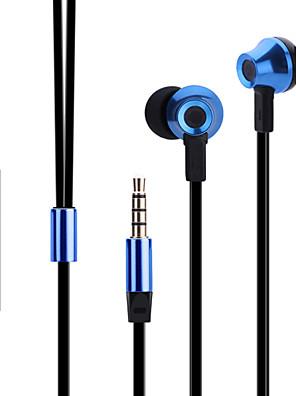 Sluchátka do uší kov ergonomický styl abingo es700 s mikrofonem&dálkový ovladač pro smartphone
