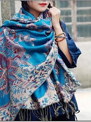 Damer Vintage / Sødt / Casual Bomuld Halstørklæde-Trykt mønster Rektangulær
