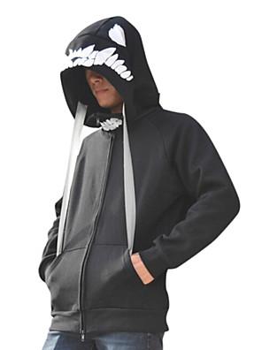 קיבל השראה מ Kantai Collection קוספליי אנימה תחפושות קוספליי קפוצ'ון Cosplay דפוס שחור שרוולים ארוכים מעיל