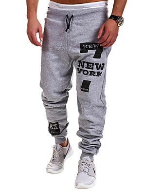Yoonheel Men's Sweatpants,Casual / Sport Print Cotton / Polyester