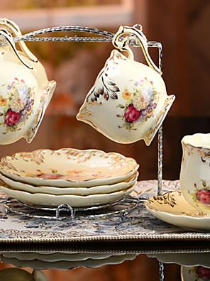 keramiske te kop 4 * 3stk eftermiddagste kina britiske stil