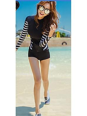 נשי חליפות שחייה סקסית מדוזת בגדי ים סיאמית uv בגד ים מגני שמש חליפות חליפת צלילה עם שרוולים ארוכים = עליון + מכנסיים