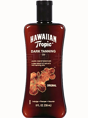 Hawaiian Tropic hawaii snel schoonheid donker bruinen diep brons zonnebrandolie 1pc 240ml