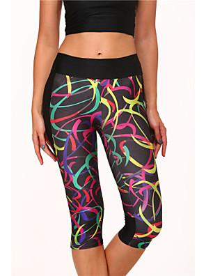 Laufen Unten / Leggins / 3/4 Strumpfhosen / Schnitt / Hosen DamenAtmungsaktiv / Hohe Atmungsaktivität (>15,001g) / Rasche Trocknung /