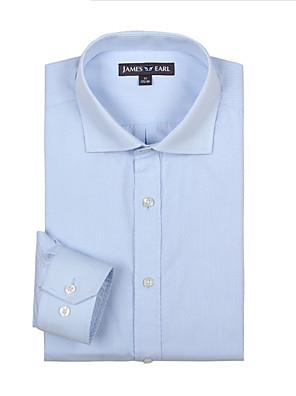 JamesEarl Heren Overhemdkraag Lange mouw Shirt & Blouse Bruin - DA112030804