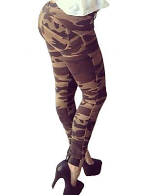 Damer Trykt mønster Legging Bomull / Spandex Normal