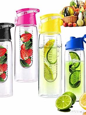 800ml wielersport fruit infuseren ei gezondheid water citroen kopje sap fiets eco-vriendelijke (willekeurige kleur)