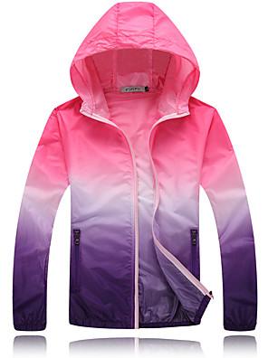 Trilha Blusas Unissexo Respirável / Resistente Raios Ultravioleta Primavera / Verão / Outono Amarelo / Vermelho / Rosa / AzulS / M / L /