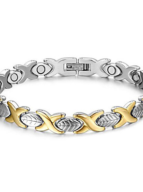 Armbanden Armbanden met ketting en sluiting Roestvast staal Magneettherapie Dagelijks / Causaal Sieraden Geschenk Zilver,1 stuks