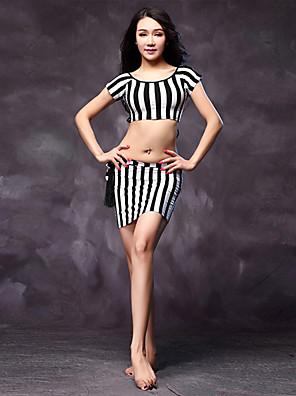 Fantasias Roupa Mulheres Actuação Algodão / Modal Faixa/Tiras 3 Peças Manga Curta Natural Saia / Top / CintoTops M:30cm/L:32cm Skirts One