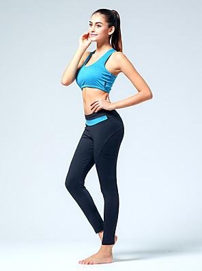 Corrida Calças / Fundos Mulheres Respirável / Redutor de Suor Poliéster / ElastanoIoga / Pilates / Exercicio e Fitness / Esportes