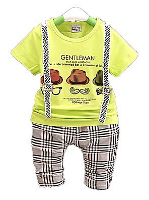 nieuwe zomer kinderkleding, jongen pak, kinderen katoenen pak, baby jongens zachte kleding