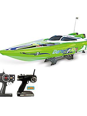 stor fjernkontroll båt, oppladbar, 2,4 g fjernkontroll båt, fjernkontroll båt seiling modell vann