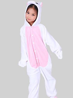 Kigurumi Pyžama Unicorn Leotard/Kostýmový overal Festival/Svátek Animal Sleepwear Halloween Růžová Patchwork Flanel Kigurumi Pro Dítě