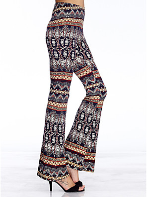 heartsoul kvinders print blå Bootcut bukser, enkle