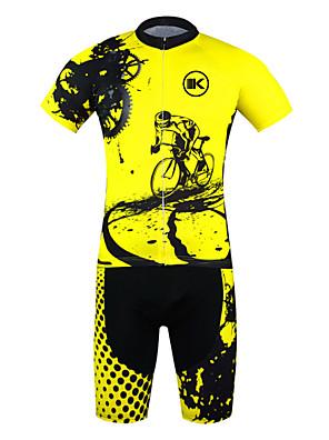 KEIYUEM® Cyklodres a kraťasy Unisex Krátké rukávy Jezdit na koleVoděodolný / Prodyšné / Rychleschnoucí / Anatomický design / Odolné vůči