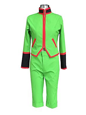 Inspirovaný Hunter X Hunter Gon. Freecss Anime Cosplay kostýmy Cosplay šaty Jednobarevné Zielony Dlouhé rukávy Vrchní deska / Kraťasy